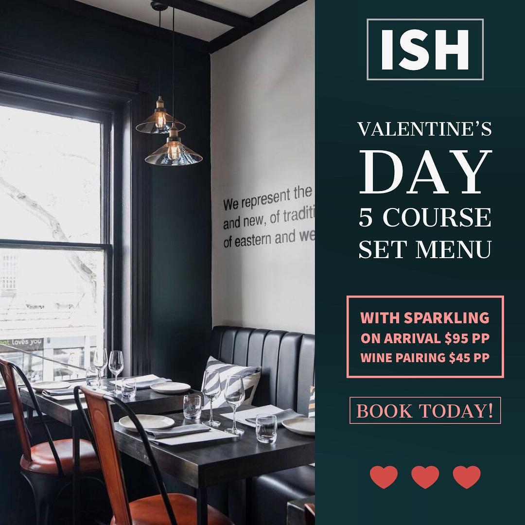 ISH valentines day banner